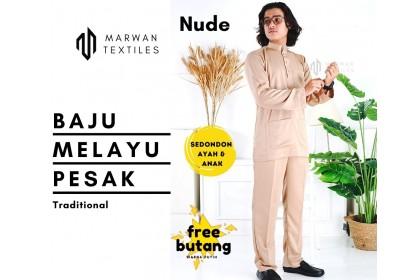 Baju Melayu Traditional Pesak[Pelbagai Warna]