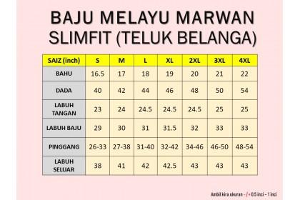 Baju Melayu Slim Fit Teluk Belanga Dewasa Warna Mustard