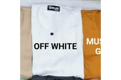 Baju Melayu Slim Fit Teluk Belanga Dewasa Offwhite