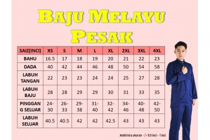 Baju Melayu Pesak Warna Rose Gold