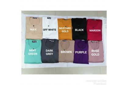 Baju Melayu Slim Fit Teluk Belanga Dewasa Warna Purple