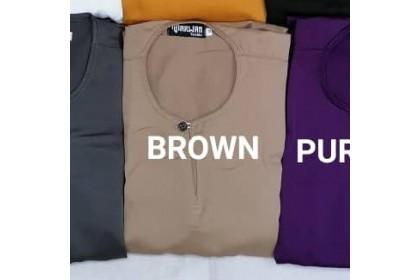 Baju Melayu Slim Fit Teluk Belanga Dewasa Warna Brown